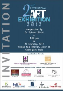 Invitation International Art exhibition 2012
