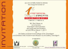 invitation 1st International Drawings & Graphic prints Exhibition 2011